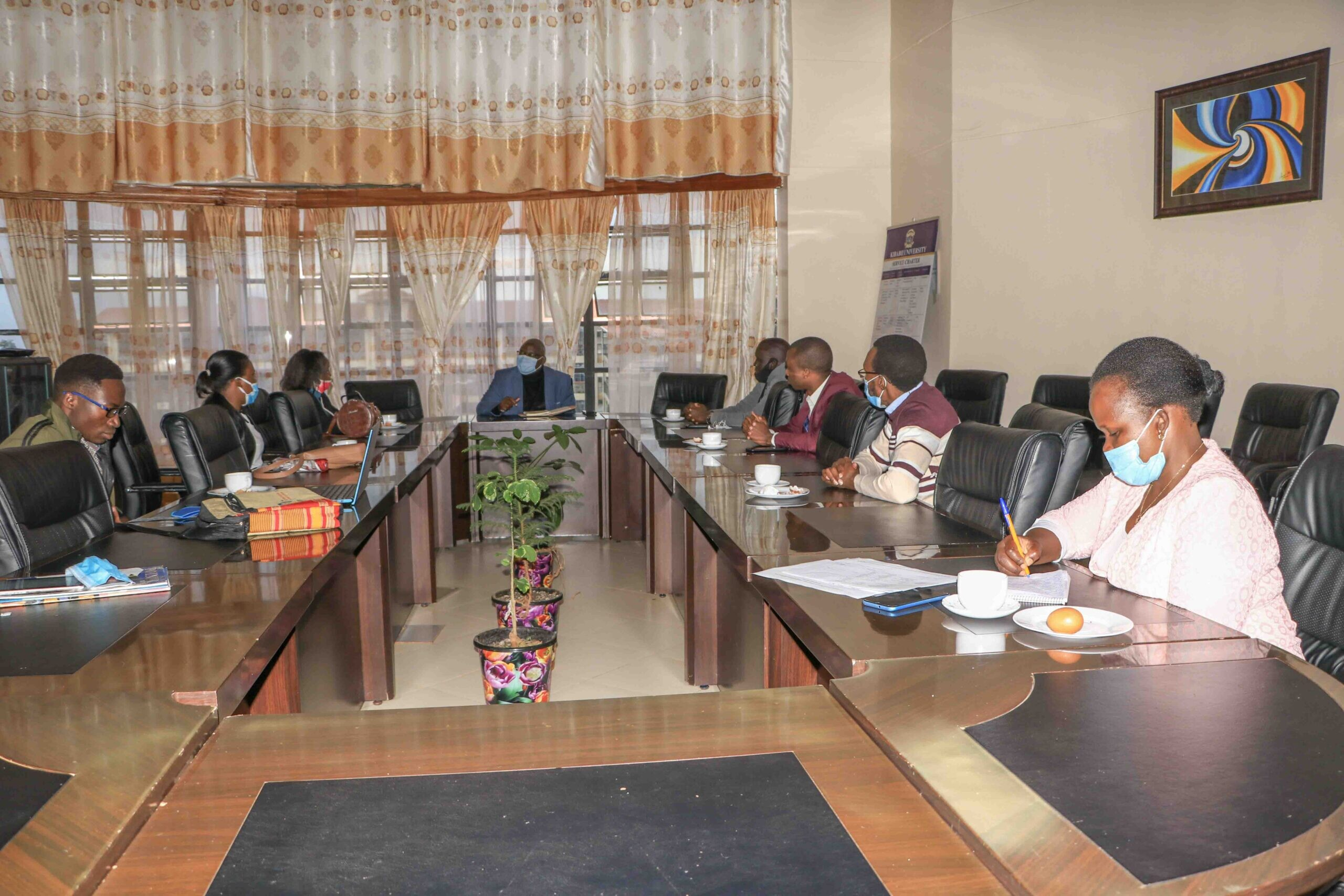 International Students pays courtesy call on the Vice Chancellor