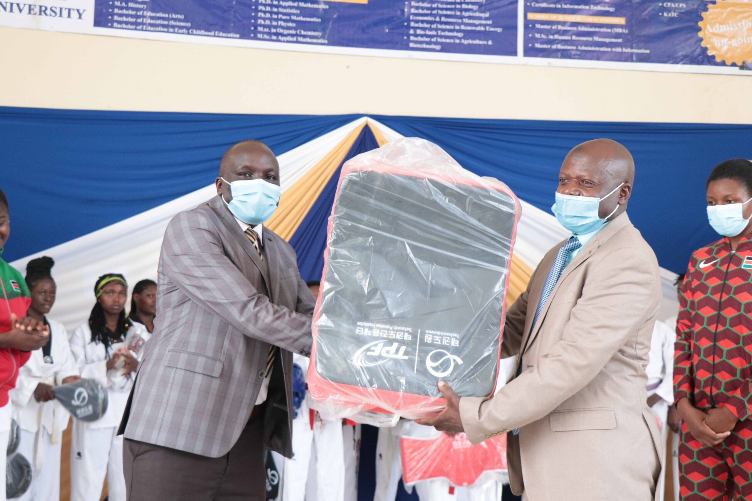 KIBU-Receives-a-Donation-of-Taekwondo-Equipment08